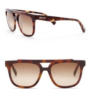 NWT Just Cavalli 35MM square aviator sunglasses